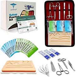Suture Practice Kit w Suturing Guide E-B...