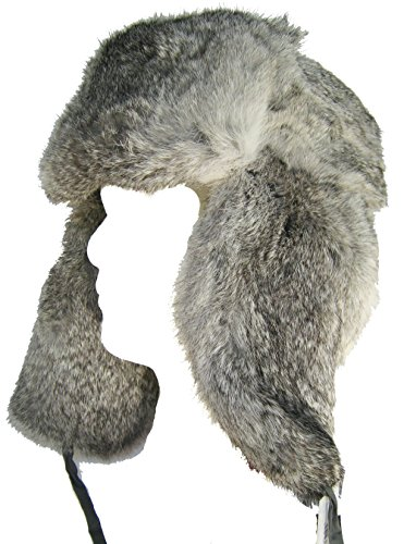 Klondike Sterling Russian Rabbit Fur Trooper Grey S (6 7/8) by Klondike Sterling