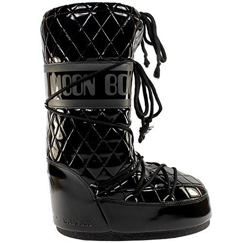 Moon Boot Womens Tecnica Original Queen Snow Winter Waterproof Boots - Black - 7-8.5 (Winter Snow Moon Boots)
