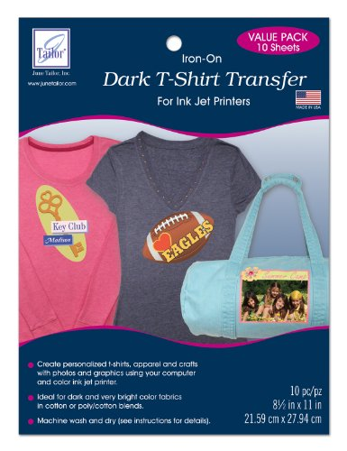 June Tailor Dark T-Shirt Transfer, 10-pack - Dark T-shirt Transfers