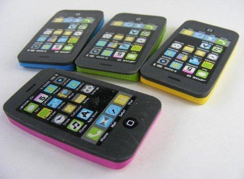 3-Piece Kawaii Erasers iPhone, iPad, iPod, 1 for each]()