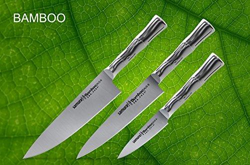 Samura Kitchen Knives Japanese MO-V-Japan Chef/'s Knives Set 3 pcs