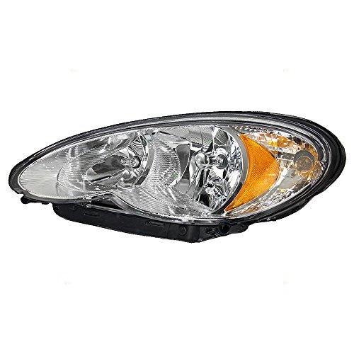 Drivers Halogen Headlight Headlamp Replacement for 06-10 Chrysler PT Cruiser 5116043AF AutoAndArt