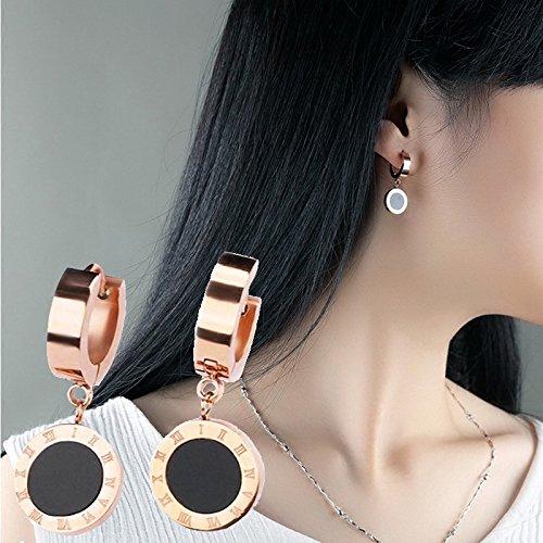 usongs edition elegant girls Roman numerals earrings women girls minimalist mesh earrings red earrings Ms sisters