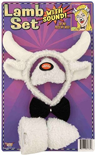 Forum Novelties Animal Costume Set Lamb Nose Tail with Sound -