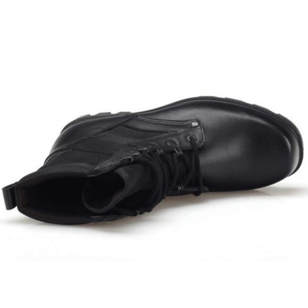 Snfgoij Arbeitsschuhe Männer Sicherheit Trainer Trainer Trainer Wasserdicht Beständig Zu Fuß Hohe Stiefel Leder Outdoor Spezialeinheiten Militärschuhe 0a1f2b