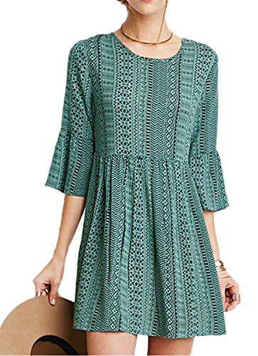 Buy bell sleeved boho mini dress - 6
