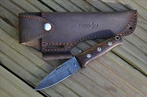 Perkin Knives - Cuchillo de Damasco (fabricado a mano).