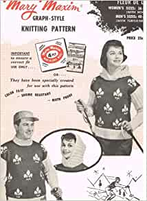 Mary Maxim Graph-style Knitting Pattern No. 486
