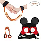 (2 kit) Anti Lost Wrist Link 2 meters Wrist Leash for Kids & Toddler Harness Anti-lost Kids Safety Walking Leash for 1-3 Years Kids.