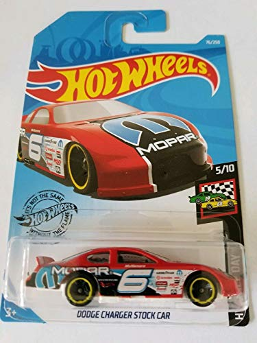 Hot Wheels 2019 Hw Race Day - Dodge Charger Stock Car, Red (Best Stocks Under 50 Dollars 2019)