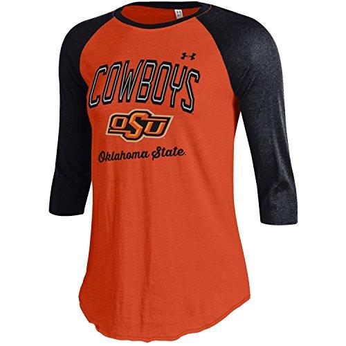 Under Armour NCAA Oklahoma State Cowboys Women's Baseball Tee, Medium, Black