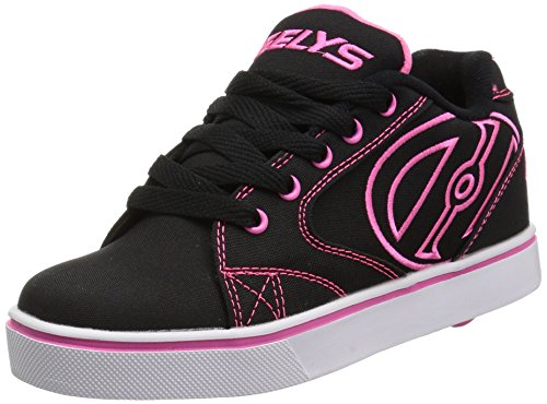- Heelys Girls' Vopel Tennis Shoe, Black/Pink/White, 7 M US Big Kid