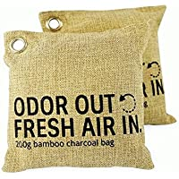 100% Natural Air Freshener Bamboo Charcoal Bags (2x200g) by Say & Sincere