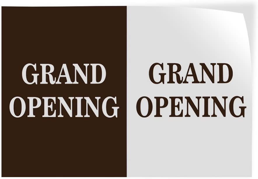 27inx18in Set of 5 Decal Sticker Multiple Sizes Grand Opening Gran Opening Business Grand Opening Outdoor Store Sign Brown