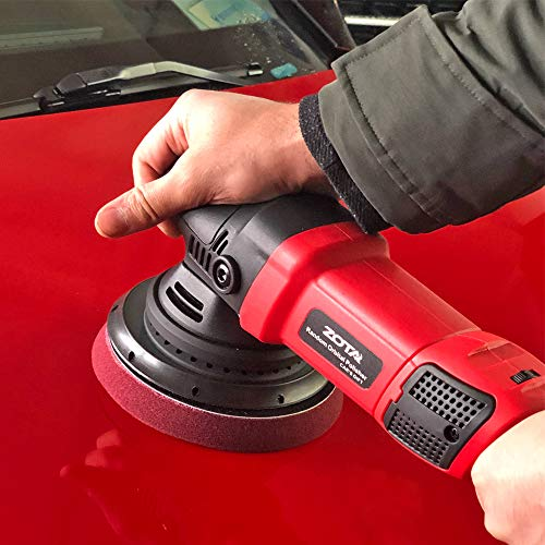 ZOTA Polisher, 21mm Long-Throw Upgraded Random Orbital Polisher,6.5'' Dual Action Car Buffer kit with 3 Professional Pad and 13' Cord by ZOTA (Image #4)