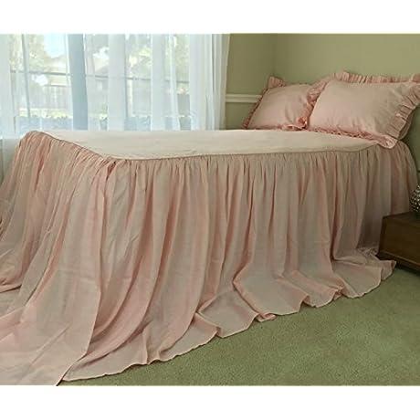 Pink Bedspreads Handmade In Natural Linen Pink Linen Bed Covers Pink Bedding Bedspread Queen Bedspread King Bedspread Twin Bedspread FREE SHIPPING