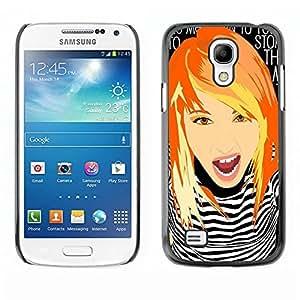 Caucho caso de Shell duro de la cubierta de accesorios de protección BY RAYDREAMMM - Samsung Galaxy S4 Mini i9190 MINI VERSION! - Girl Clever Redhead Ginger Grunge Chick