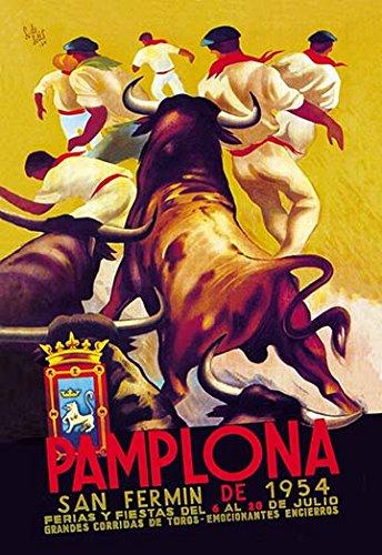 Pamplona, San Fermin 20x30 poster - Pamplona Series