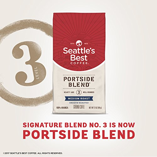 Seattle's Best Coffee Portside Blend (Previously Signature Blend No. 3) Medium Roast Ground Coffee, 12-Ounce Bag