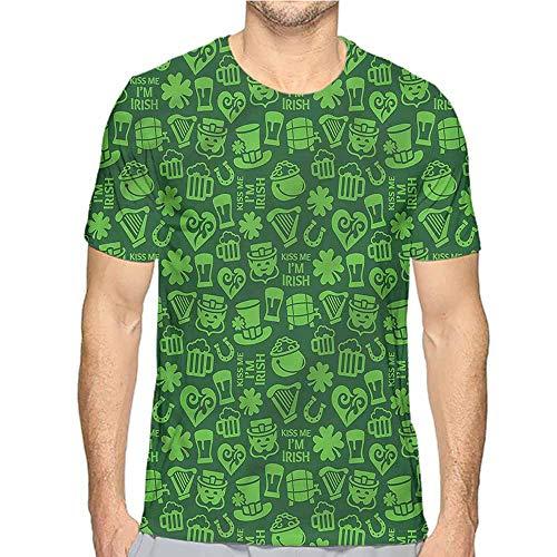 t Shirt for Men Irish,Kiss Me Im Irish Humor Custom t Shirt L