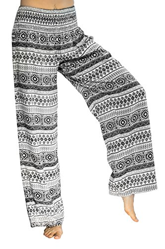 PIYOGA Women's Boutique Lounge and Yoga Pants, Elastic Waistband and Flare Bottom (One Size fits US W Size 0-12) - Bohemian ()