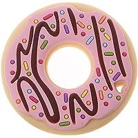 guoyy Donuts silicona Mordedor bebé niño Enfermedades juguete perlas DIY kauen Collar Cadena Para Chupete