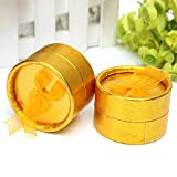 Ac2Shop 10X Jewelry Gift Box Round Ring Earring Boxes Package Birthday Gift Box Case, Gold