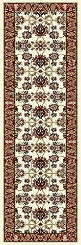 Traditional Area Rugs Ivory Hallway Runner Rugs, Runner Rug for Hallway 2x8