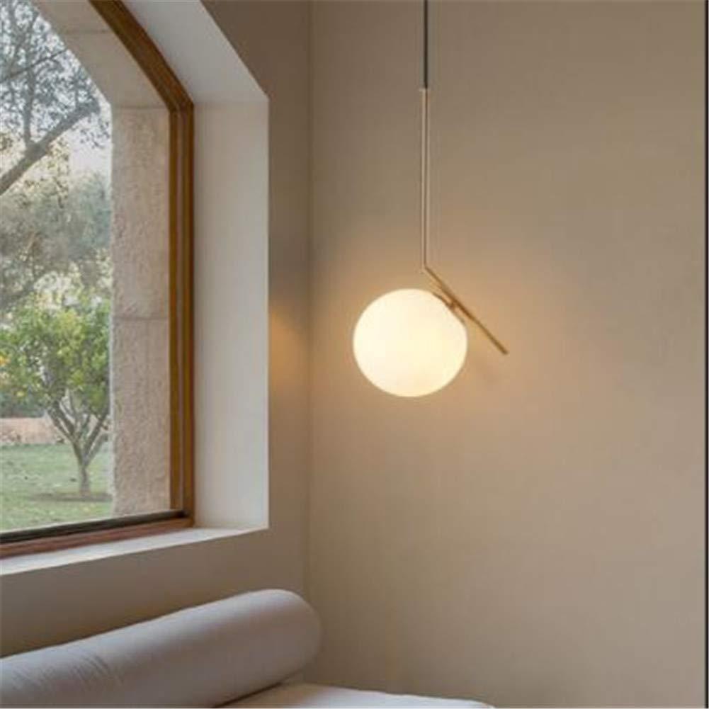 KMY-LIGHTING Kronleuchter Moderne minimalistische Glaskugel Kronleuchter Pendelleuchten Deckenleuchte für Schlafzimmer Wohnzimmer Esszimmer Küche 1 Kopf,30cm