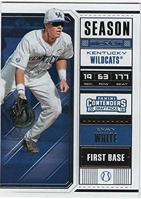 2018 Contenders Baseball Season Ticket VARIATION #14 Evan White Kentucky Wildcats Official Panini Collegiate Baseball Card