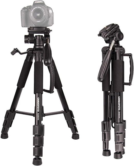 Damping Head /& Bag 3-Way Swivel Pan Head for Canon Nikon DSLR Camera Rumfo Aluminum Portable Tripod Adjustable 17.7-49.2in