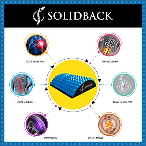 SOLIDBACK | Lower Back Pain Relief Treatment Stretcher | Chronic Lumbar Support | Herniated Disc | Sciatica Nerve | Spinal Stenosis | Posture Corrector | Pillow Cushion and Brace Products Alternative