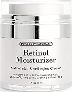 Pure Body Naturals Age Defying Retinol Cream, 1.7 Ounce