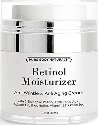 Age-Defying Retinol Moisturizer Cream, Retinoid Cream for Face by Pure Body Naturals, 1.7 Fl. (Alpha Hydrating Body Lotion)