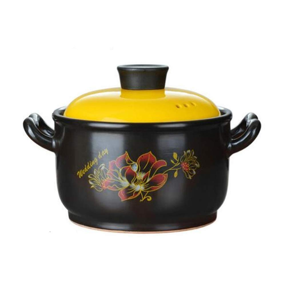 SHICCF Pre-Seasoned Cast Iron Dutch Oven Pot With Lid And Dual Handles, 5-Quart (Size : 4.2L)