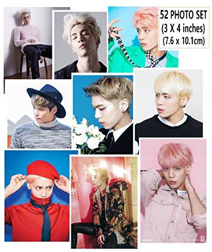 SM Entertainment JONGHYUN SHINee - PHOTO SET 52pcs (3 X 4 inches) + SoltreeBundle Ballpoint Pen(Black)