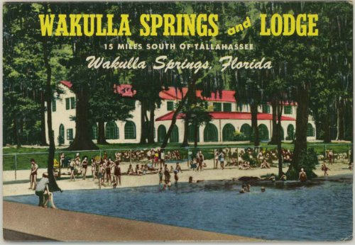 Wakulla Springs Florida (1960's Souvenir Florida Postcard Packet / Folder) #D-10913