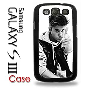Samsung Galaxy S3 Plastic Case - Justin Bieber Boyfriend Photo Pionted black and white