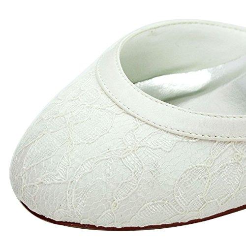Donna Tacco Pizzo Avorio Chiuse Con Hc1508 Scarpe Elegantpark Sposa Da q86XOAf