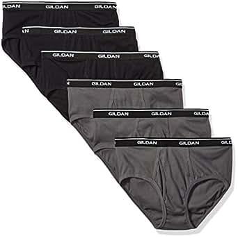 Gildan Platinum Mens 6-Pack Cotton Brief Briefs - Black - Small