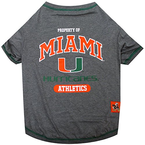 NCAA Miami Hurricanes Dog T-Shirt, Medium