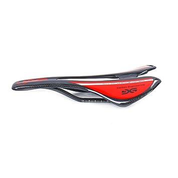 brillante // mate asiento para sill/ín de bicicleta de monta/ña y carretera ELITA ONE Asiento de bicicleta s/úper ligero con fibra de carbono con asiento 95g 3K rojo verde azul