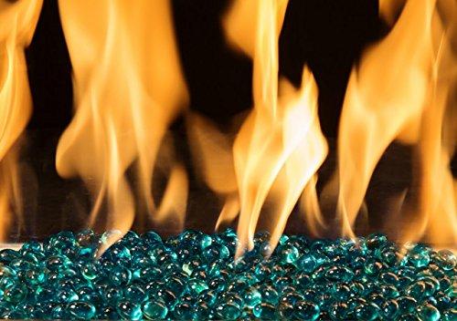 Linear Fire Beads Finish: Aqua
