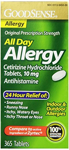 Good Sense Cetirizine HCL Tablets, 10 mg (1095 Count) by Good Sense