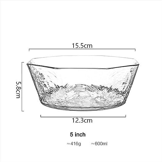 Saladier en Verre Ronde Plat en Verre Transparent Fruit Alimentaire Trifle Bowl Jatte Moderne Minimaliste de Table en Verre en Verre Art de la Table Art D/écor Forme irr/éguli/ère Color : Rose