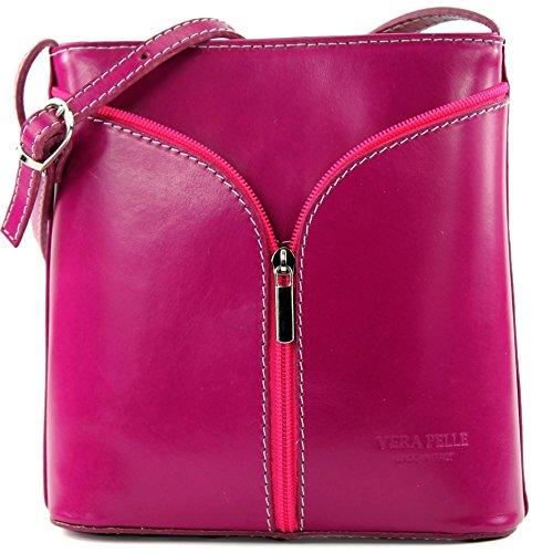 à Strauß sac sacoche main D19 Pink italienne à bandoulière petite sac Sac femme qFCvxwnEnp