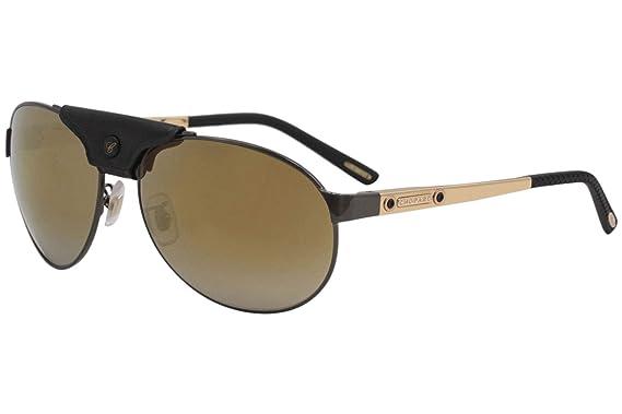 64b3dfcd530 Image Unavailable. Image not available for. Color  Chopard Men s SCH932 SCH  932 K10R Black Fashion Pilot Polarized Sunglasses 62mm