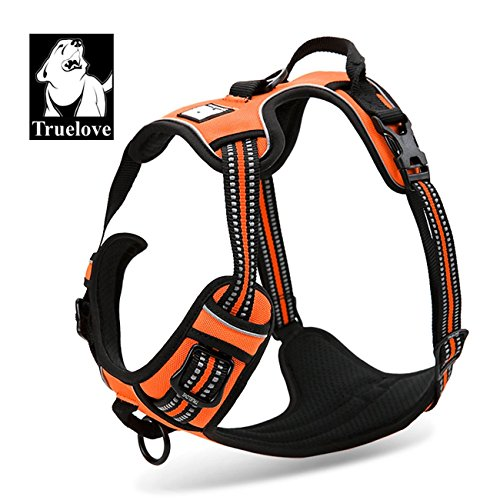 Reflective Mesh Sport Harness - Comfort Control Dog Harness Adjustable Puppy Walk Harness Reflective Vest Anti-pull Safety Vest Truelove TLH5651 in 5 Colors and 5 Sizes Now Available!
