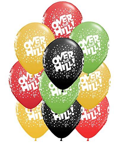 (Set of 10 Multicolored Over the Hill Confetti 11